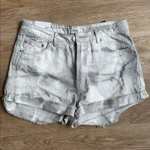 Forever 21 Mid Rise Gray Tye Dye Shorts